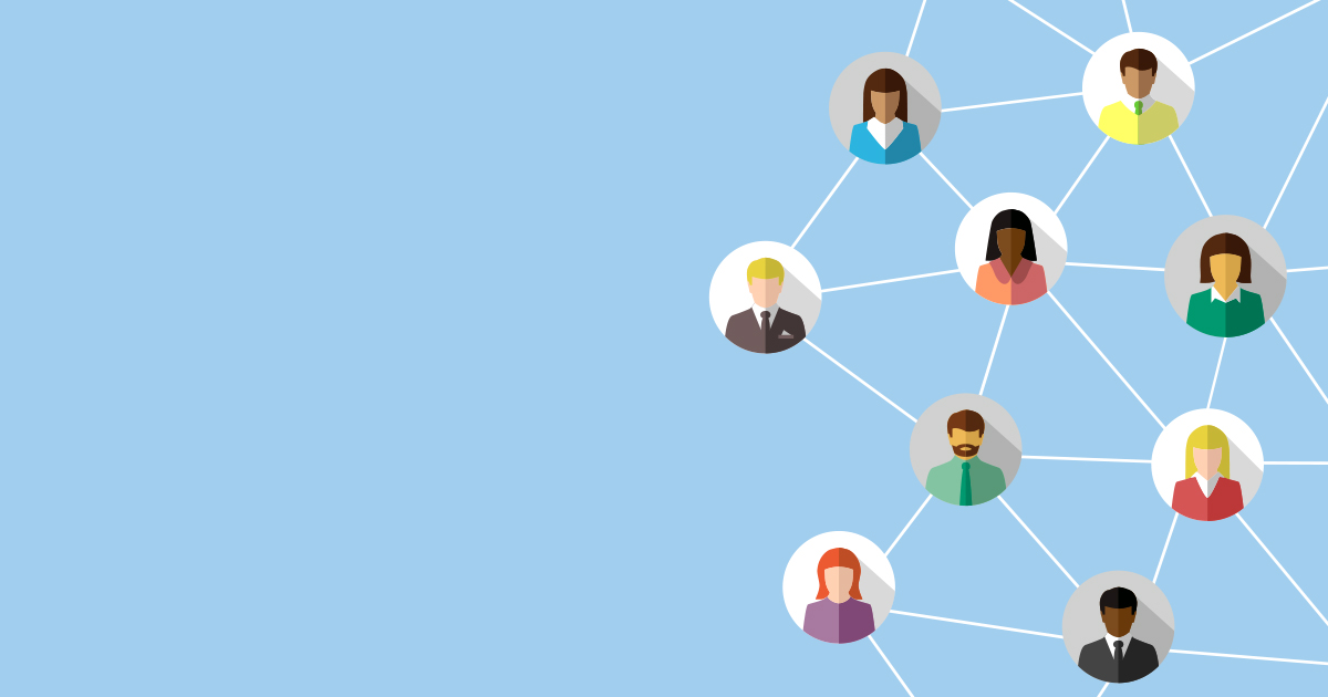 illustration of networked people