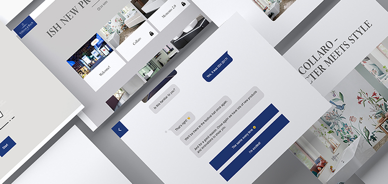 mockups of villeroy and bosch chatbot