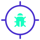 Cyber Crime Time e-learning content icon find bugs