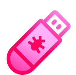 Cyber Crime Time E-Learning Icon USB
