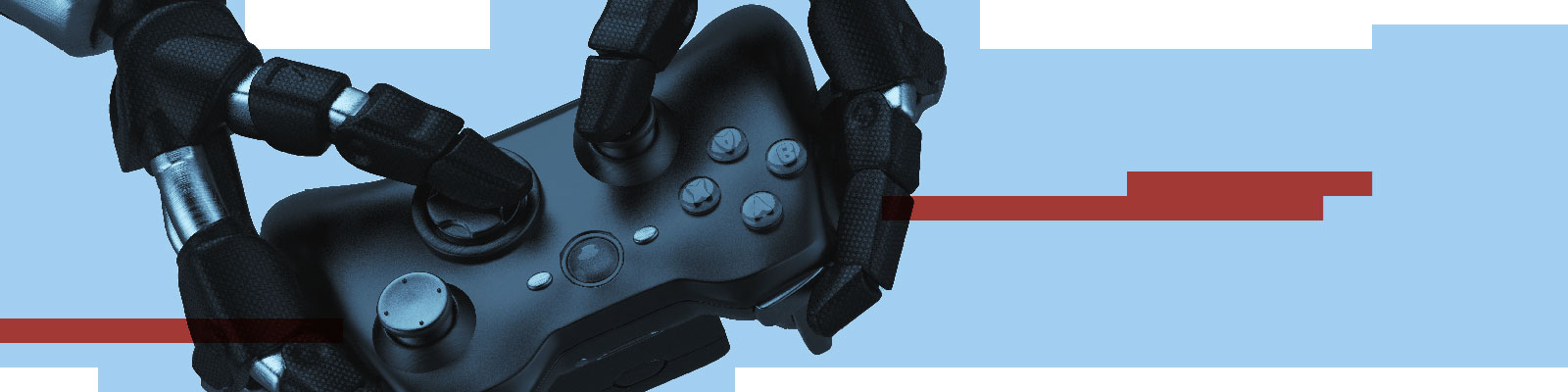future of work robot with gamepad